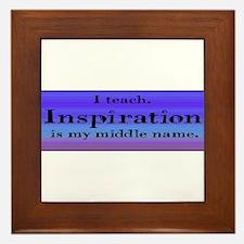 I Teach - Blue Framed Tile