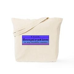 I Teach - Blue Tote Bag