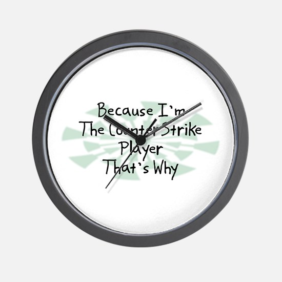 Because CounterStrike Player Wall Clock