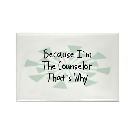 Because Counselor Rectangle Magnet (100 pack)