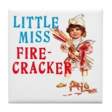 Vintage Miss Firecracker Tile Coaster