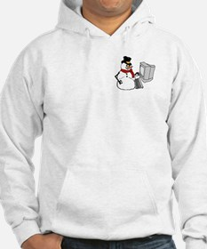 Snowman at the Computer Hoodie