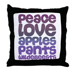 Apples and Pants Throw Pillow