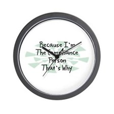 Because Compliance Person Wall Clock