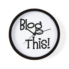 Blog This! Wall Clock