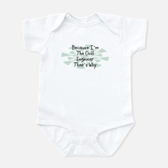 Because Civil Engineer Infant Bodysuit