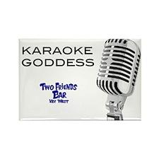 Karaoke Goddess Rectangle Magnet