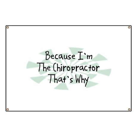 Because Chiropractor Banner