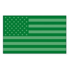 Green Flag Rectangle Decal