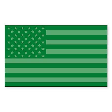 Green Flag Rectangle Sticker