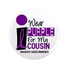 "I Wear Purple For My Cousin 9 PC 3.5"" Button"