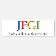 JFGI Bumper Bumper Bumper Sticker