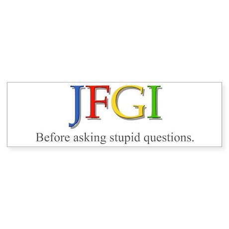 JFGI Bumper Sticker