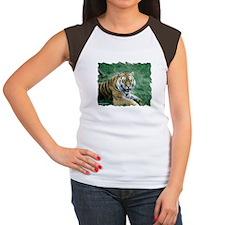 """Resting Tiger - B3"" Women's Cap Sleeve T-Shirt"