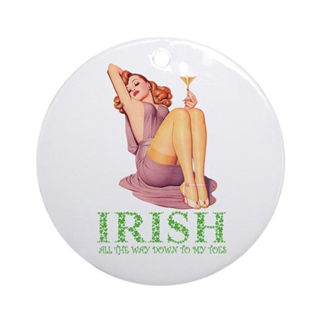 IRISH DOWN TO MY TOES Ornament (Round)
