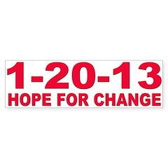 Obama's last day 01.20.13 Bumper Sticker (50 pk)