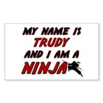 my name is trudy and i am a ninja Sticker (Rectang