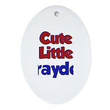 Cute Little Brayden Oval Ornament