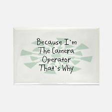 Because Camera Operator Rectangle Magnet