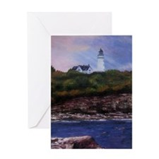 Two Lights Greeting Card