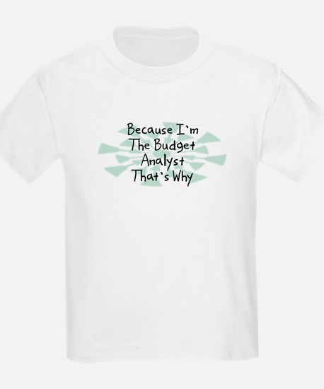 Because Budget Analyst T-Shirt