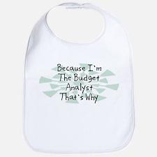 Because Budget Analyst Bib