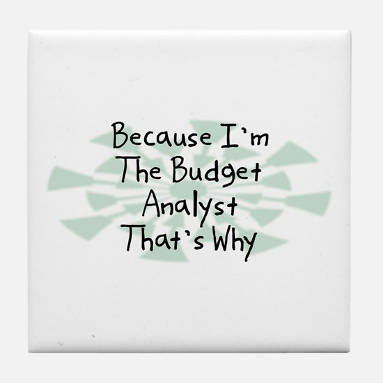 Because Budget Analyst Tile Coaster