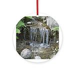 Pond Waterfall Ornament (Round)