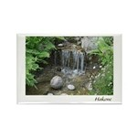 Pond Waterfall Rectangle Magnet