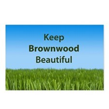 """Keep Brownwood Beautiful"" Postcards (Package of 8"