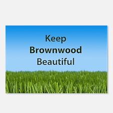 """""""Keep Brownwood Beautiful"""" Postcards (Package of 8"""