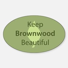 """Keep Brownwood Beautiful"" Oval Decal"