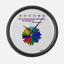 Rainbow Daisy Large Wall Clock