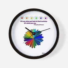 Rainbow Daisy Wall Clock