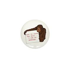 I Own No Monkeys Mini Button (10 pack)