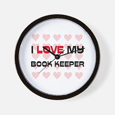I Love My Book Keeper Wall Clock