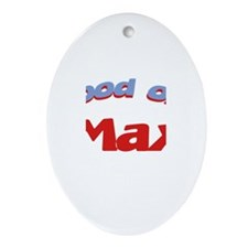 Good Old Max Oval Ornament