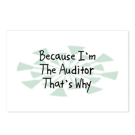 Because Auditor Postcards (Package of 8)