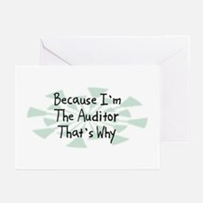 Because Auditor Greeting Cards (Pk of 20)