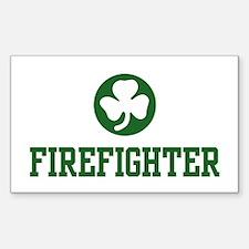 Irish Firefighter Rectangle Decal