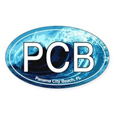 PCB Panama City Beach Oval Oval Decal