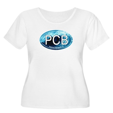 PCB Panama City Beach Oval Women's Plus Size Scoop