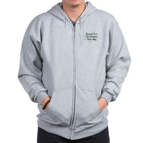Because Archivist Zip Hoodie