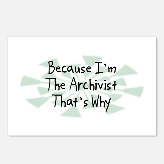 Because Archivist Postcards (Package of 8)
