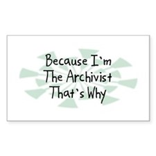 Because Archivist Rectangle Sticker 50 pk)