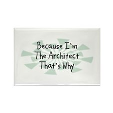 Because Architect Rectangle Magnet