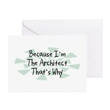 Because Architect Greeting Cards (Pk of 20)