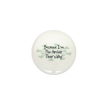 Because Archer Mini Button (100 pack)