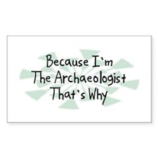Because Archaeologist Rectangle Decal