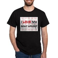 I Love My Boat Wright T-Shirt